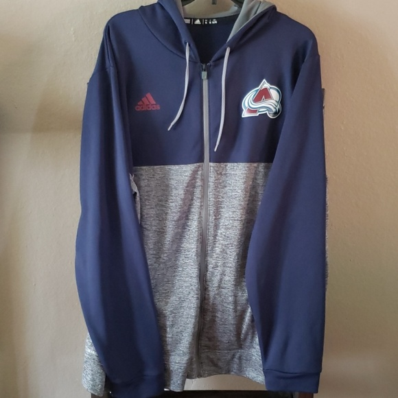 best authentic a0ecd ba349 Colorado Avalanche Zip Up Hoodie Adidas